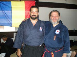 Sensei Alic Bogdan és Hanshi José Miguel Martinez Barrera