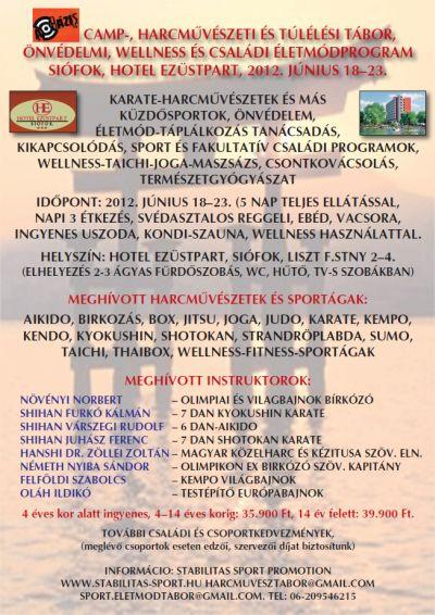 Siófoki Bázis Camp plakát