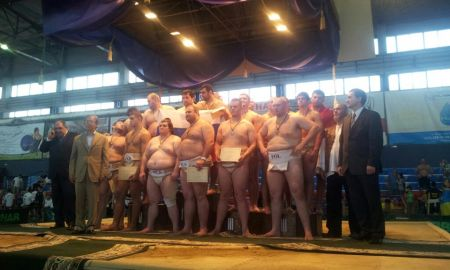 A magyar férfi csapat bronzérmes az ukrajnai Szumó EB-n