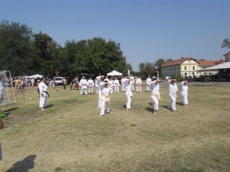 Karate bemutató Gyulán
