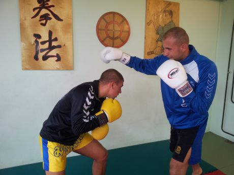 Gábor Péter - sparring edzés
