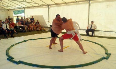 Libor Dezső akcióban az I. Országos Sumo Csapatbajnokságon