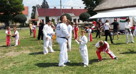 Taekwondo edzés a Demonstrációs napon