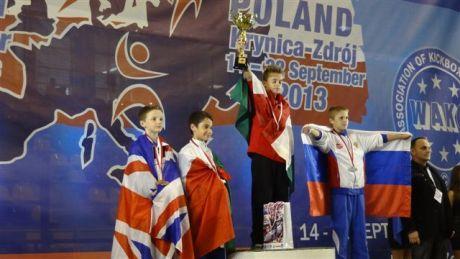 Viczián Roland aranyérmes Kick-box Európa-bajnokságon Lengyelországban