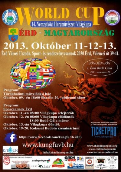 Harcművészeti Világkupa Magyarországon, 2013