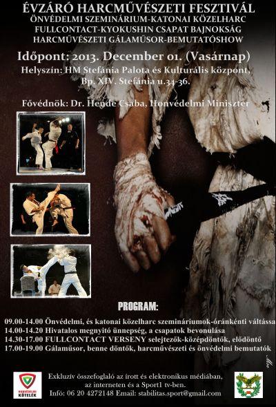 Évzáró Harcművészeti rendezvény a Stefánia Palotában
