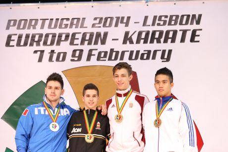 Koch Szabolcs bronzérmes a karate EB-n
