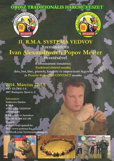 II. Systema Vedvoy szeminárium