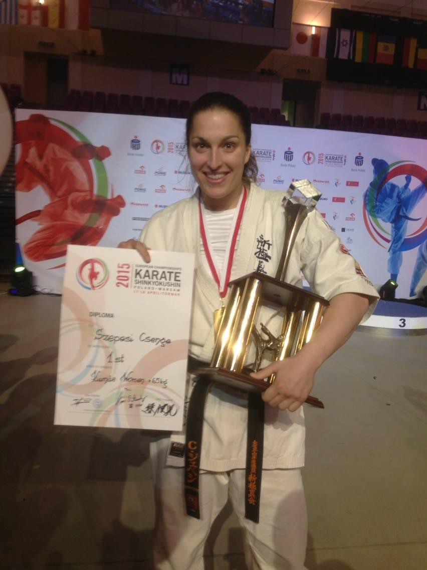 Szepesi Csenge felnőtt +65 kg Európa-bajnok