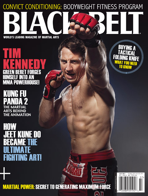 Tim Kennedy a Black Belt magazin címlapján